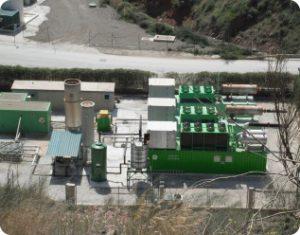 Planta de desgasificación y producción de energía eléctrica