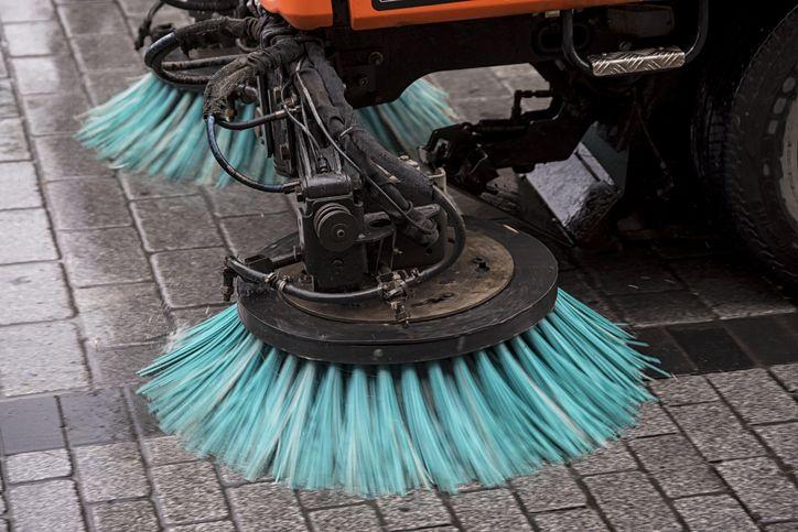Servicio de fregado de aceras